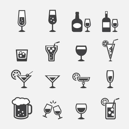 vector.drink icon set