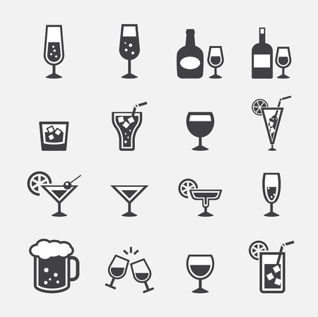 drinking: vector.drink icon set