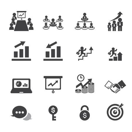 corporate hierarchy: icona di affari Vettoriali