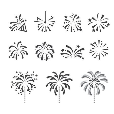 firecrackers: fireworks icon Illustration