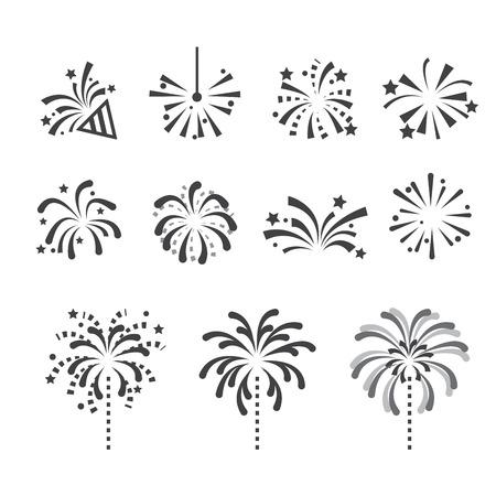 fireworks icon Stock Illustratie
