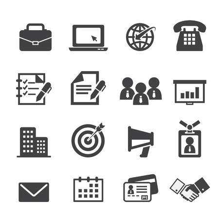 business and office icon Banco de Imagens - 34147707
