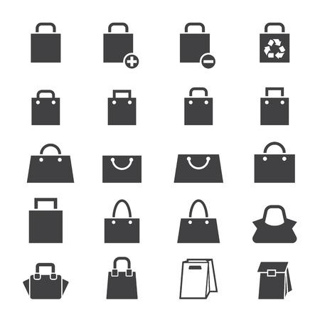 バッグのアイコンを設定  イラスト・ベクター素材