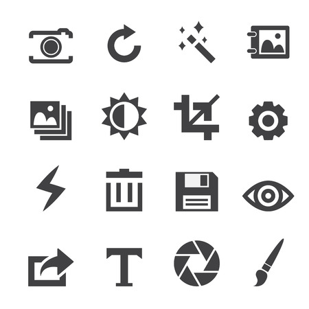 edit icon: Photography icons