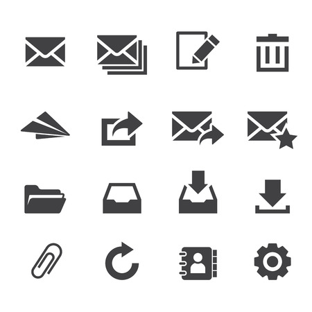 interface icon: email icon Illustration