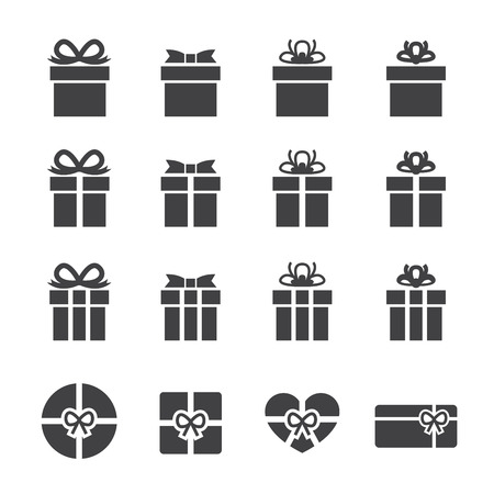 gift box icon Ilustrace