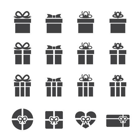 Icono de la caja de regalo Foto de archivo - 34379451