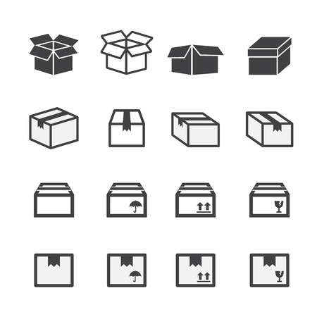 post box: box icon set