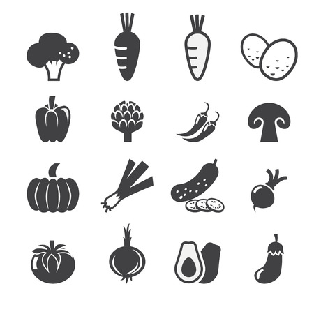 onion: vegetables icon set Illustration