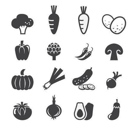 onion: verduras conjunto de iconos Vectores