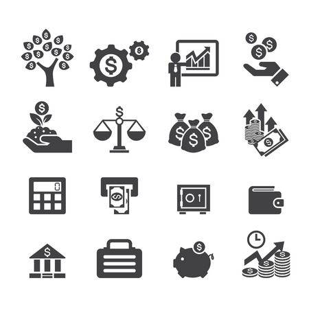 finance icon: business and finance icon Illustration