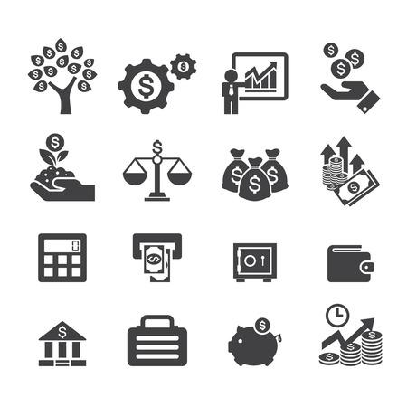 pieniądze: Ikona biznesu i finansów Ilustracja