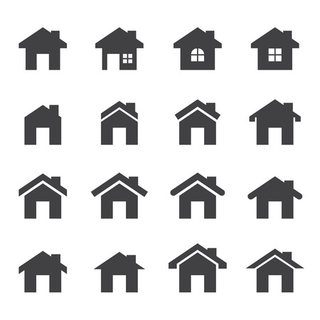 Icône maison Banque d'images - 34379458