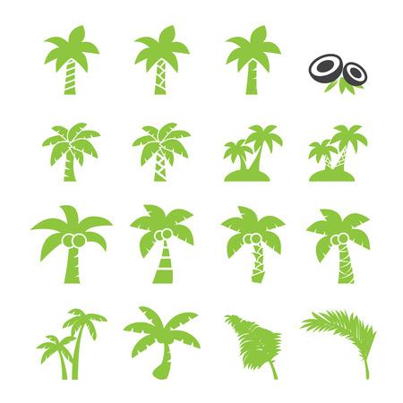 boompictogram kokosnoot Stock Illustratie