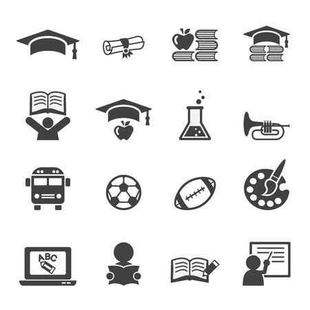educacion: Conjunto de iconos de la educación