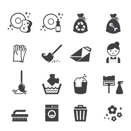 Icona pulizia Vettoriali