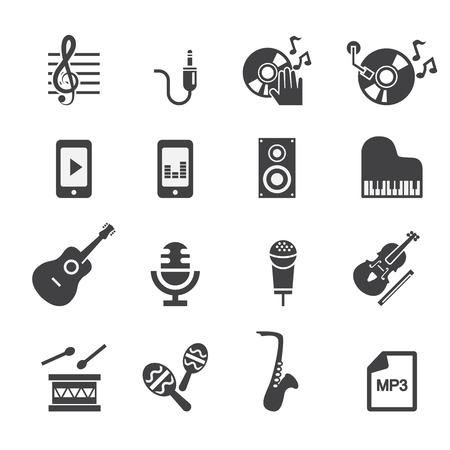 violin player: music icon Illustration