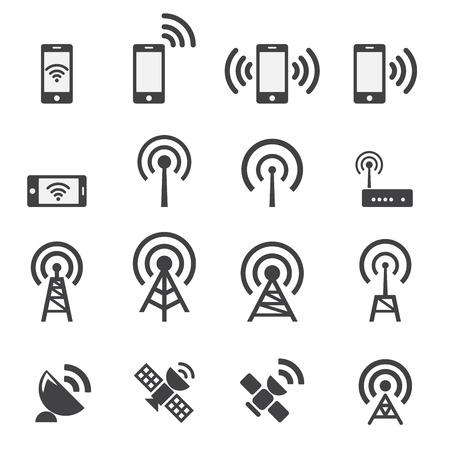 wifi access: I dispositivi mobili e set di icone senza fili