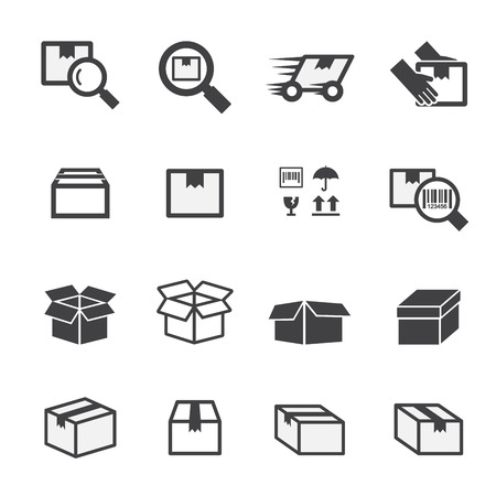 carton: box icon set