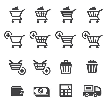 rubbish cart: shopping icon