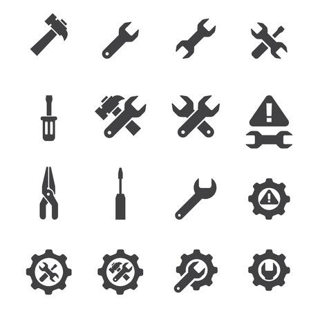 herramientas de mecánica: conjunto de iconos de herramienta