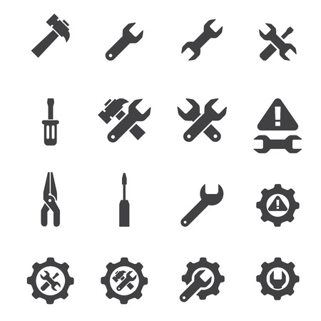 tool icon: strumento icon set Vettoriali