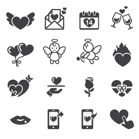 valentine day icon Vector