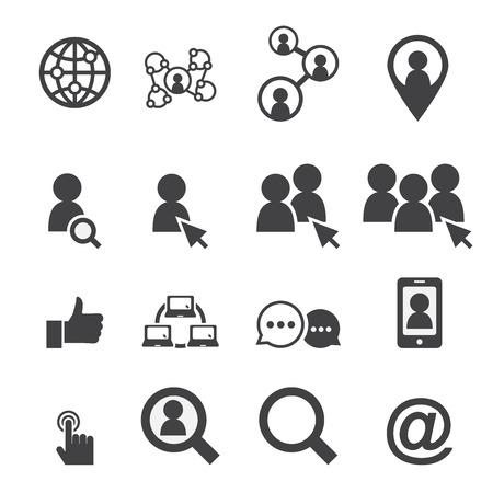 RESEAU: réseau social icône Illustration