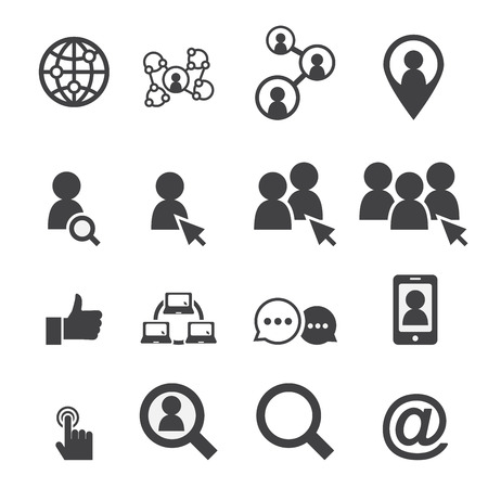 business network: social network icon