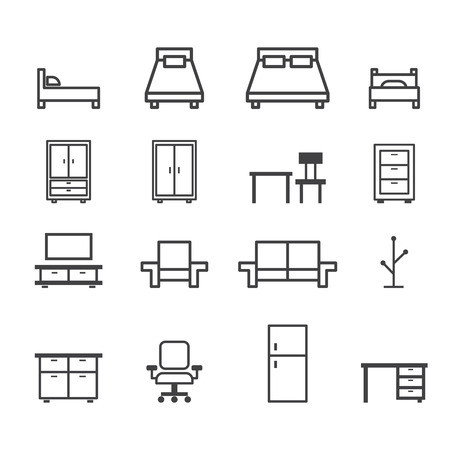 double sink: furniture line icon