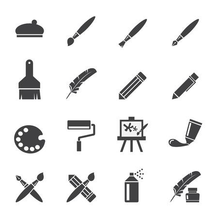paleta: arte icono conjunto