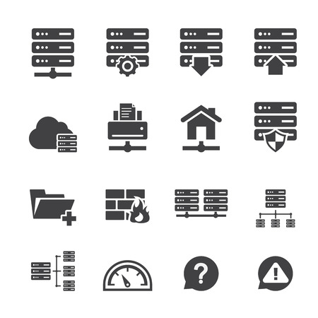 ftp: FTP & Hosting Icons Illustration
