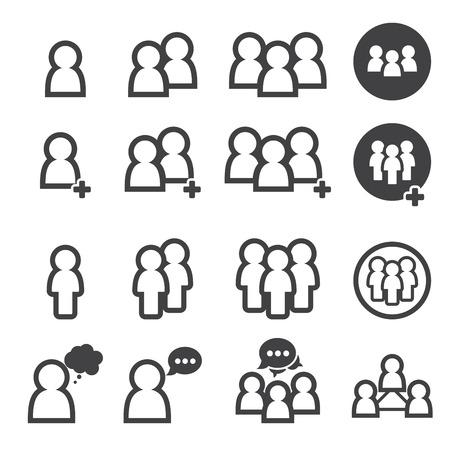 Menschen icon Standard-Bild - 39804896