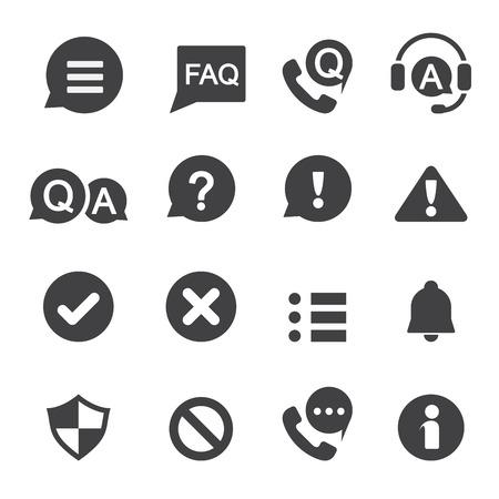 información y notificación icono