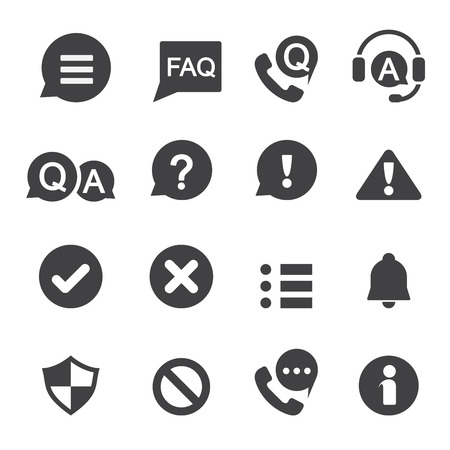 information and notification icon Vector
