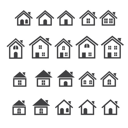 building structure: house icon set