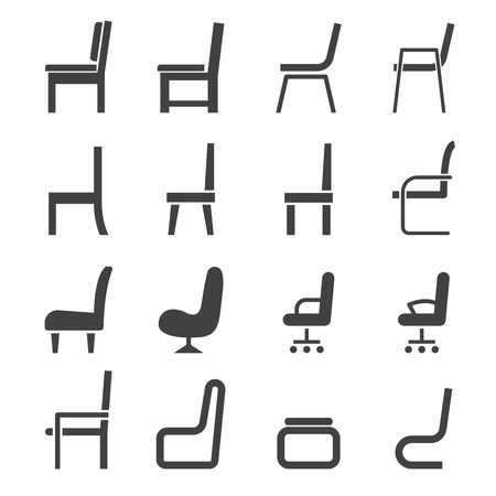 의자 아이콘 일러스트