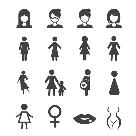 bathroom icon: woman icon Illustration