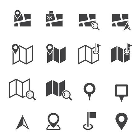 mapa: icono de mapa Vectores