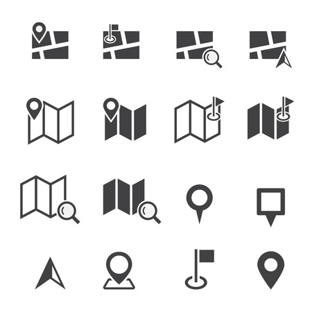 icons: map icon