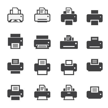 印刷アイコン セット  イラスト・ベクター素材