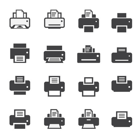 color printer: print  icon set