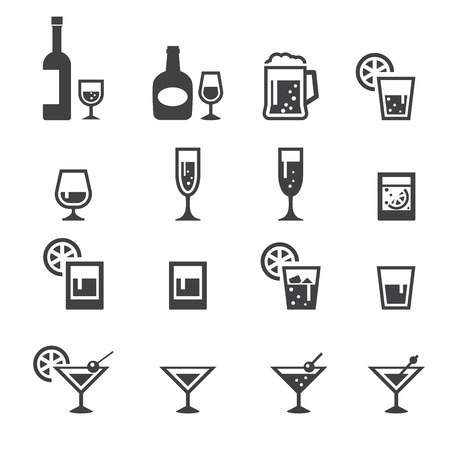 whisky bottle: alcohol drink icon Illustration