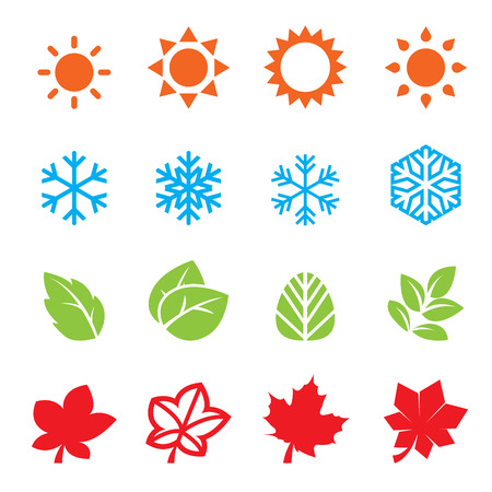 season icon set Ilustrace