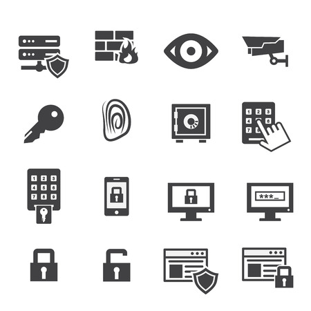security monitor: security icons