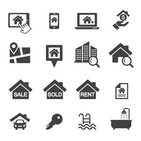 Real estate icons Illustration