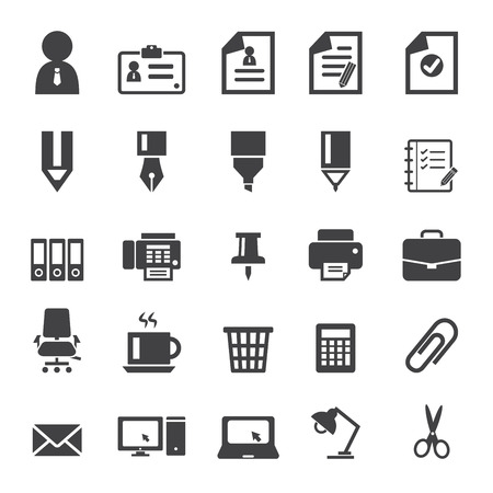 office supplies: Office Supplies Icons Illustration