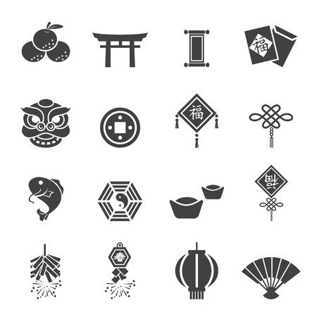 Chinese New Year Icons Illustration