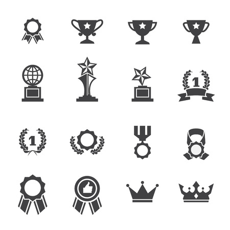 primer lugar: icono de la concesión Vectores