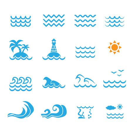 sea water: sea icon